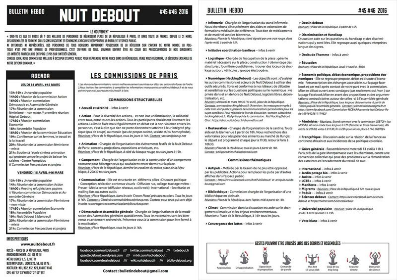 Bulletin Debout #45mars