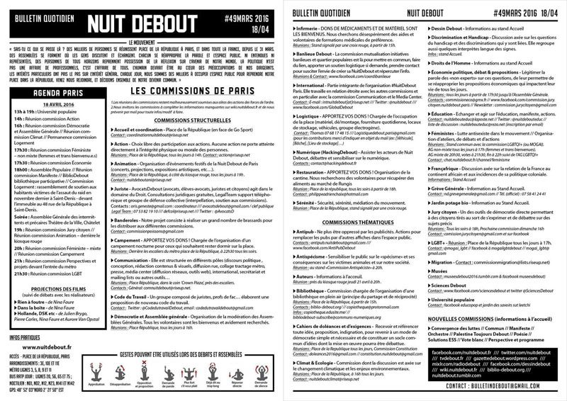 Bulletin Debout #49mars