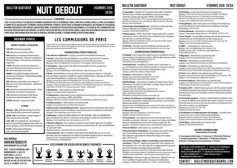 Bulletin Debout #50mars