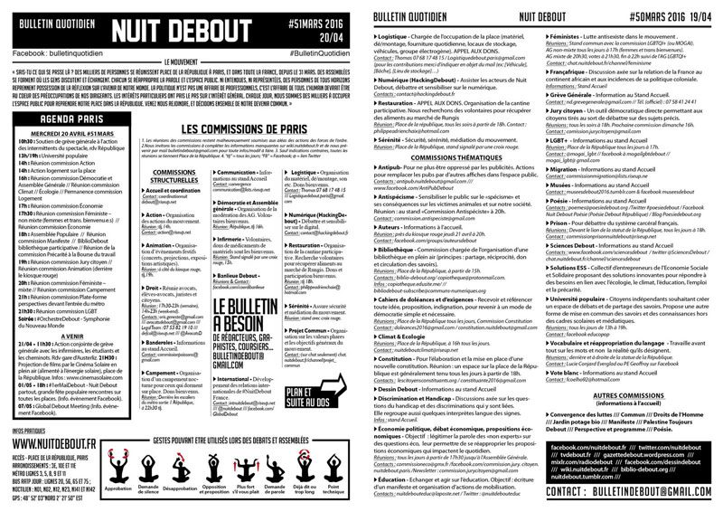 Bulletin Debout #51mars