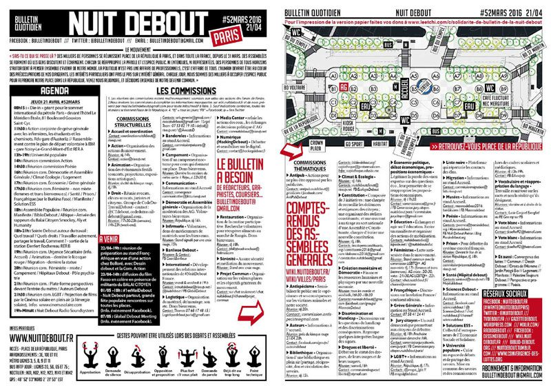 Bulletin Debout #52mars