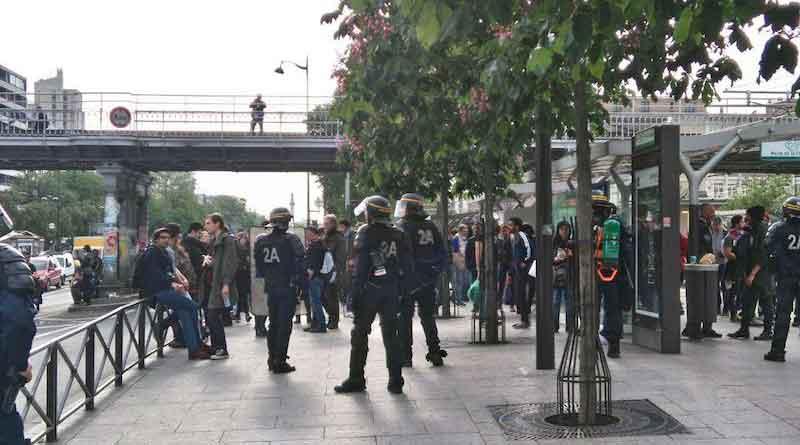 Manif 26 mai. Porte de Vincennes