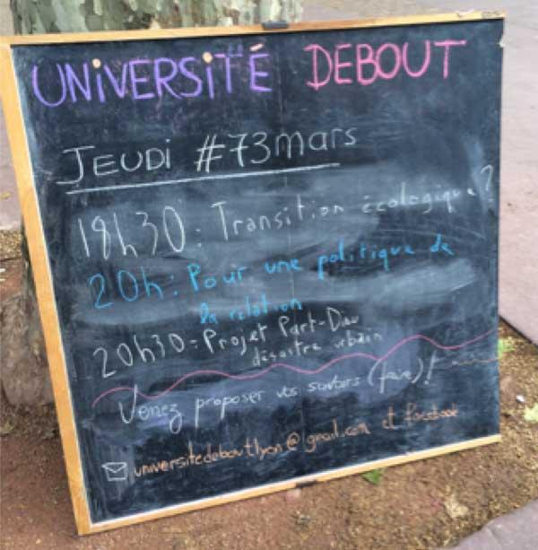 Université Debout Lyon