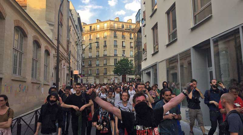 Manifestation sauvage du 23 juin