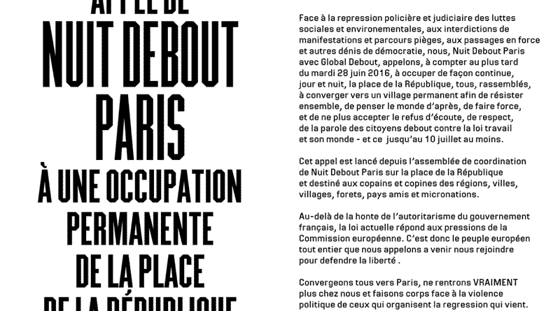 Appel à l'occupation permanente