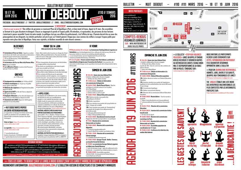 Bulletin Debout #110mars-#111mars