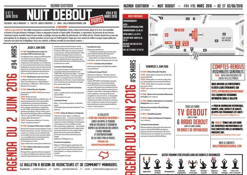 Bulletin Debout #94mars-#95mars