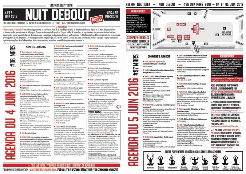 Bulletin Debout #96mars-#97mars