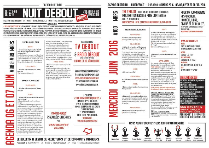 Bulletin Debout #98mars-#99mars-#100mars