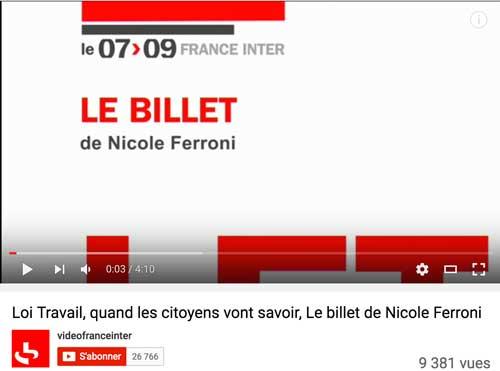 Cliquez ici pour écouter le billet de Nicole Ferroni