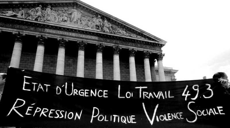 Action devant l'Assemblée Nationale, juillet 2016