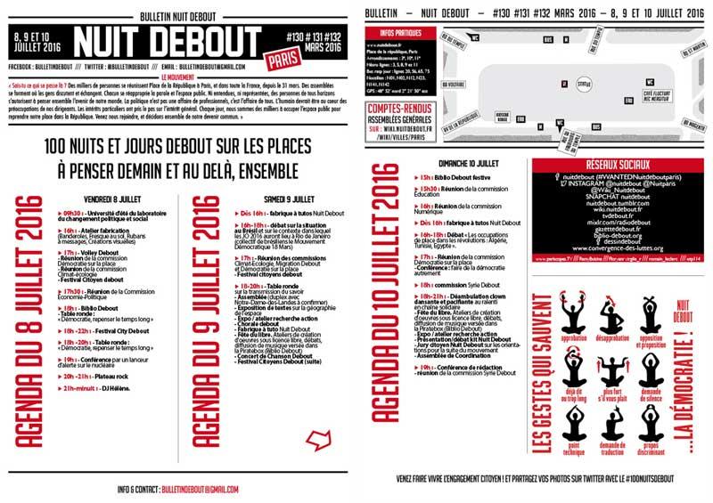 Bulletin Debout #130mars-#131mars-#132mars (100jours)