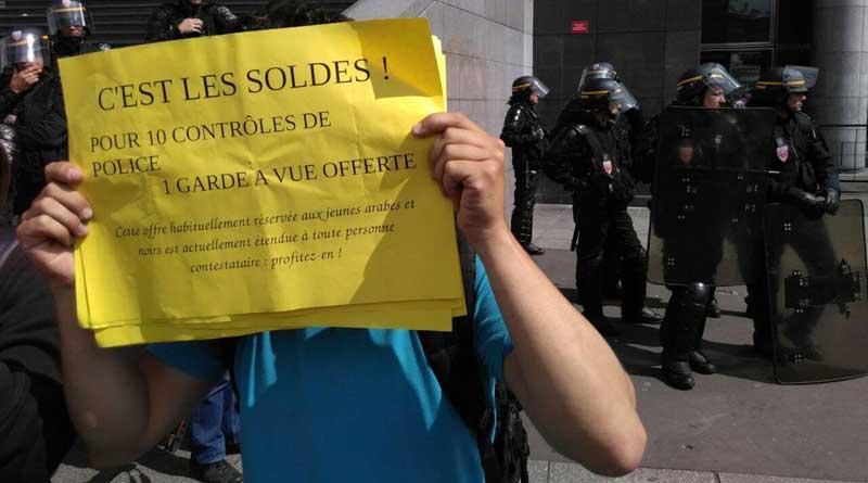 Les soldes sur la garde à vue pendant la manifestation du 5 juillet. Nuit Debout - DR