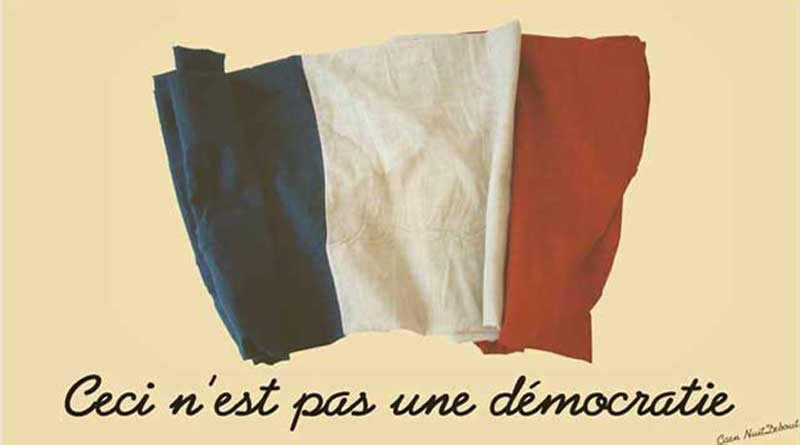 """Ceci n""""est pas une démocratie"""