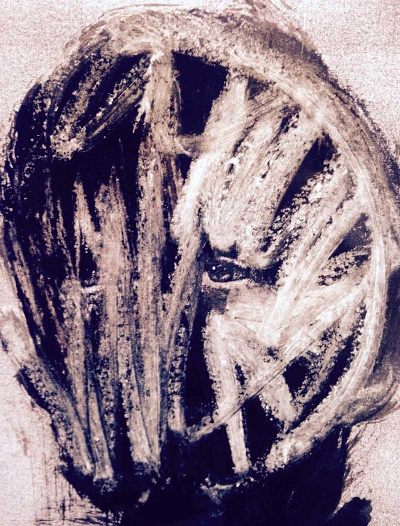 Clown blanc 2 - Stéphanie Pouech