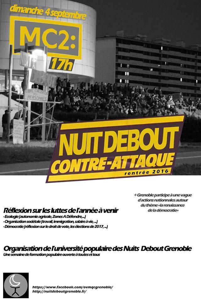 Nuit Debout Grenoble contre attaque.