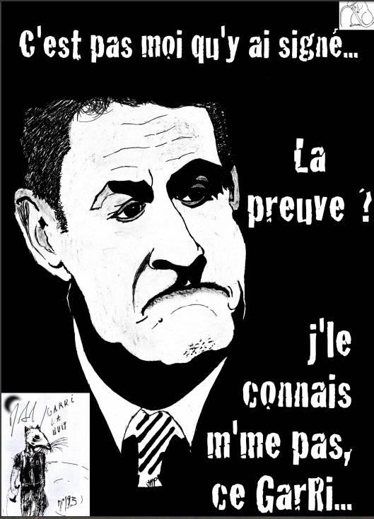 Nicolas Sarkozy a signé le journal GaRri la Nuit de Nice.