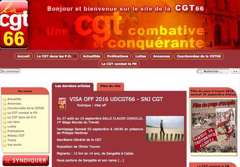 Le site internet de la CGT 66