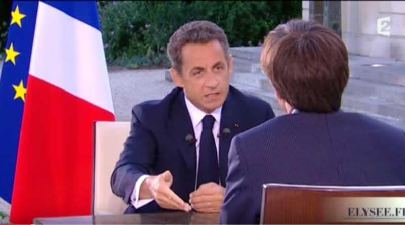 Nicolas Sarkozy face à David Pujadas.