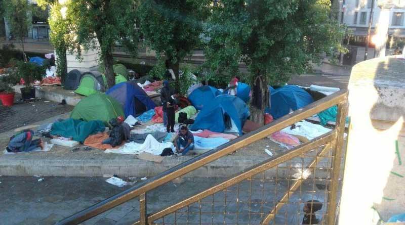 Le camp des réfugiés à Stalingrad