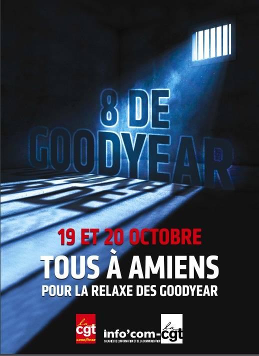 Manifestation pour la relaxe des Goodyear les 19 et 20 octobre à Amiens.