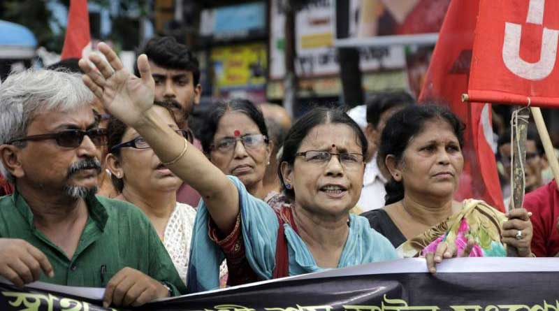 Des activistes du Parti Communiste Indien
