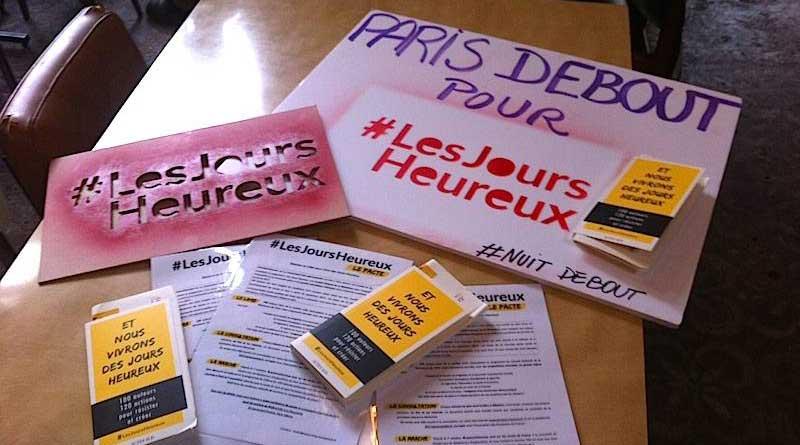 Les Jours Heureux venus présenter leur projet à Paris le 20 octobre.