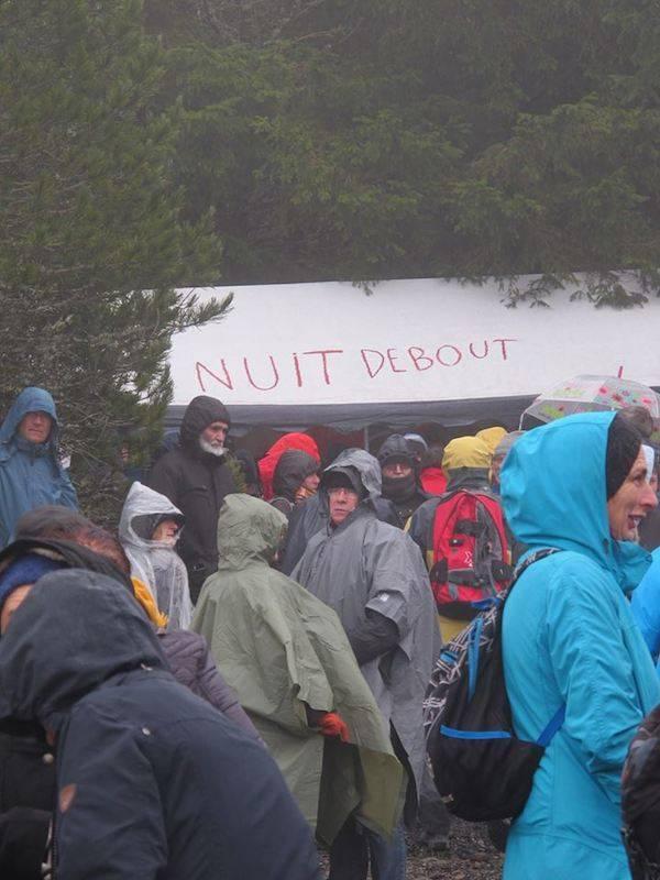 L'ascension du Mont Mézenc pour soutenir les réfugiés, le 23 octobre 2016.