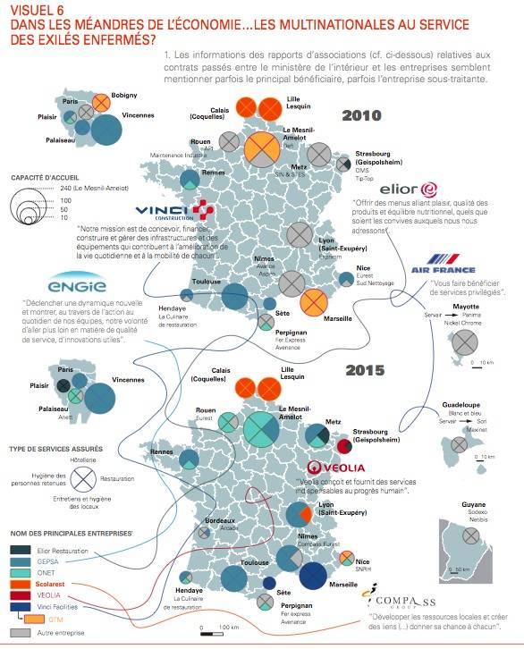 Les multinationales qui gagnent de l'argent sur le dos des migrants en France.