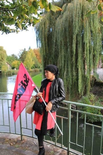Manifestation de soutien aux salariés Goodyear à Amiens le 19 octobre.