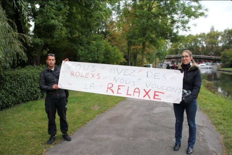 Manifestation de soutien aux salariés Goodyear à Amiens le 23 octobre.