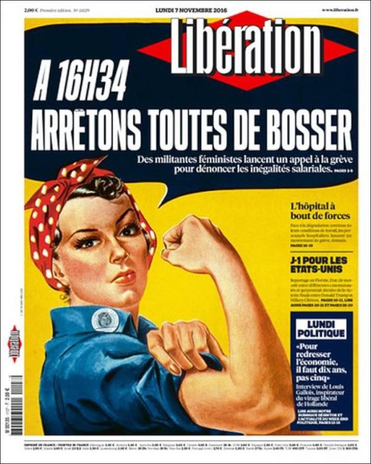 La Une de Libération du 7 novembre 2016.