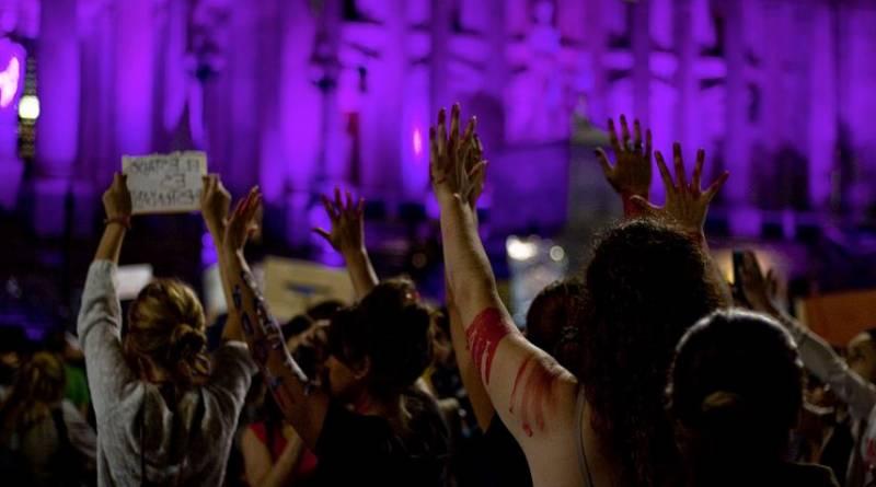 Le 3 juin 2015, lors de la manifestation #NiUnaMenos à Buenos Aires