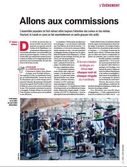 La couverture du mouvement Nuit Debout par Politis