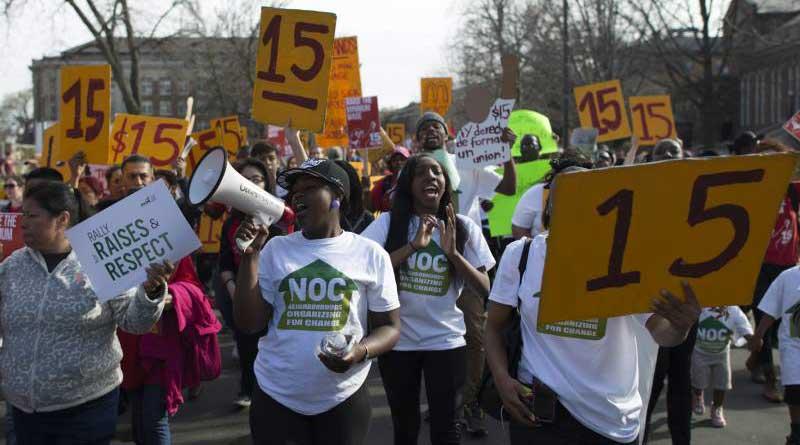 Manifestation pour le salaire minimum