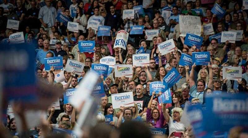 Rassemblement pour Bernie Sanders à Madison (Wisconsin)